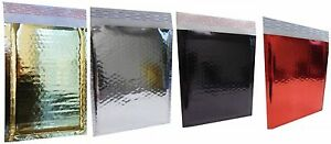 250 Gold Bubble Mailers Silver Red Or Black 5x9 Inch Metallic Self Seal Poly