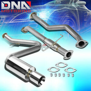 For 05 10 Scion Tc Vvti 2az 4 rolled Tip Muffler Stainless Catback Exhaust Kit