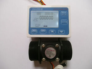 1 5 Flow Water Sensor Meter digital Lcd Display Control 5 150l min