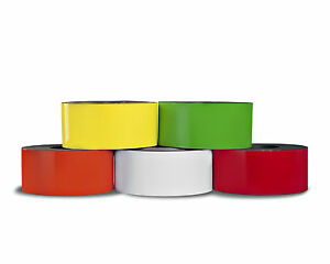 Dry Erase Magnet 2 x10 Roll 20 Mil 5 Pack Of Colors Made In Usa