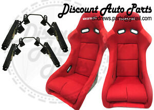 Bride Zeta 3 Iii In Red Plain Low Max Pair short Side Mounts Sliders Bundle
