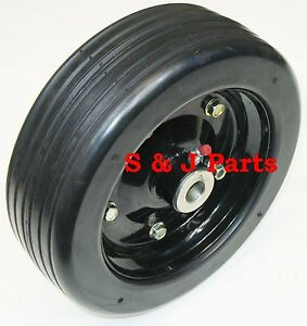10 x 3 25 Finish Mower Wheel Solid Molded Tire Fits 1 2 Axle