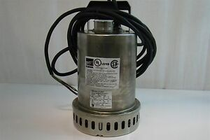 Ebara Stainless Sump Pump 3 Phase 1 2hp 0 6kw 40p707u 6 64 Epd 5mt4