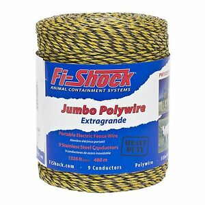 Fi shock Pw1320y9 fs 9 strand Polywire 1320 Feet 1 Pack New Free Shipping