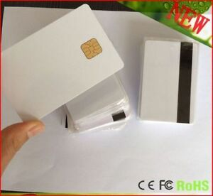 50 Pcs Smart Ic Card Sle 4428 Big Chip 3 Track Magnetic Stripe Shipped From Usa