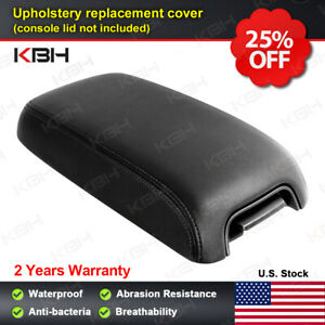 Fits 2011 2018 Dodge Charger Center Console Lid Leather Armrest Cover Black