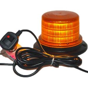 Amber 4 Beacon Light Forklift Strobe Flashing Emergency Hazard Warning Beacon