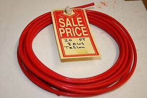 20 Ft Teflon Insulated Wire 8 Awg