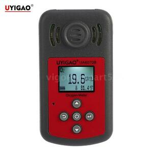 Uyigao Portable Lcd Oxygen Meter O2 Gas Concentration Tester Tool 0 25 vol D7v8