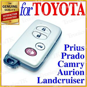 Toyota Aurion Avalon Landcruiser Camry Highlander Smart Key Remote 4 Buttons