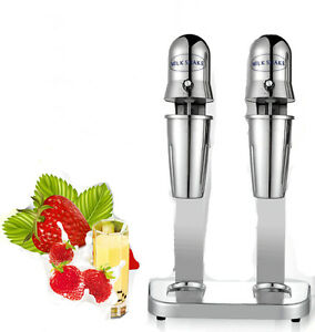 Stainless Steel Double Heads Milk Shake Machine Milk Mixer Commercial 220v Y