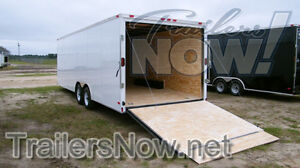 8 5x20 5200 Enclosed Trailer Cargo Car Hauler V nose Utility 22 26 24 2018