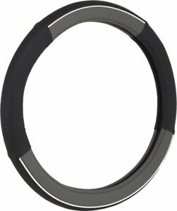 Bell Automotive Products Steering Wheel Cover Black W Gray Chrome 97034