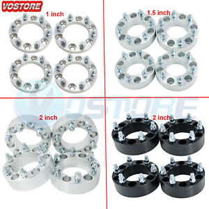4 2 Wheel Spacers Adapters 6x5 5 For Chevy Silverado 1500 Suburban Gmc Trucks
