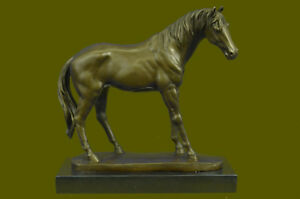 Galloping Horse Statue Marble Bronze Art Figurine Decor Sculpture Marble Deal