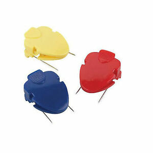 12 Lot Cube Clips For Cubicle Fabric corkboards 6 count Asst Colors 710823ql