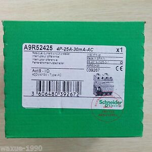 1pcs New Schneider Acti9 Air Leakage Circuit Switch A9r52425 4p 25a