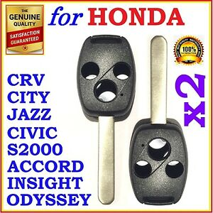 Fit Honda Accord Crv Civic City Jazz Odyssey S2000 Three Button Key Remote Shell