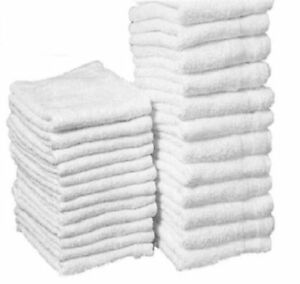 300 Cotton Terry Cloths Shop Rags Towels Cleaning Wiping Janitorial 12x12