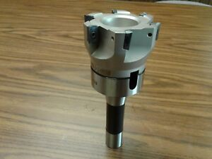 3 90 Degree Indexable Face Shell Mill face Milling Cutter Apkt W r8 Arbor