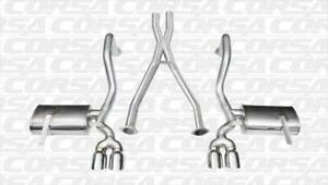 Corsa Dual Rear Cat back x pipe Exhaust For 97 04 Chevy Corvette Polished 14114