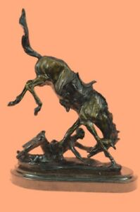 Legends In Bronze Wicked Pony By Frederic Remington Marble Base Cowboy Horse