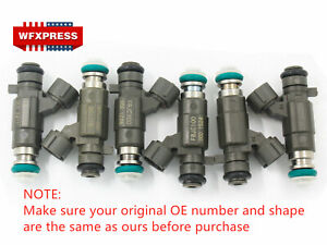 6 Pcs Fuel Injectors For Nissan Infiniti 350z Fx35 2 0 2 2 2 5 3 0 3 5 Fbjc100