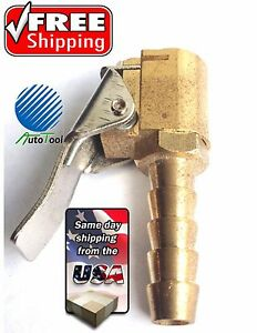 Closed Flow Tire Valve Air Chuck Clip On Style 1 4 Barb Coats Changer Hose