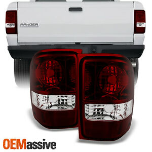 Fit 01 11 Ford Ranger Pickup Dark Red Lens Tail Lights Replacement