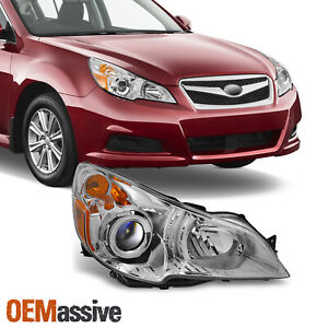 Fit 10 12 Subaru Legacy Outback Headlight Passenger Right Replacement