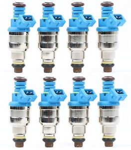 8 Pcs 42lb 440cc Ev1 Fuel Injectors For Gm Lt1 Ls1 Ls6 Ford Mustang Sohc Dohc