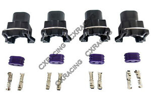 Cx Fuel Injector Connector Wiring Plug Terminal For Bosch Ev1 Female Ls1 Lsx 4pc