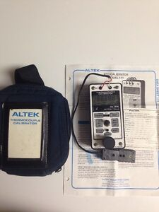 Altek 222a Thermocouple Calibrator W case Transcat Process Meter Fluke