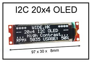 Iic I2c 2004 20x4 Oled Module Display For Arduino Pic Avr Arm
