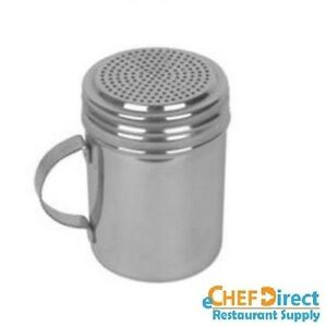 1pc Stainless Steel 10 Oz Dredge With Handle