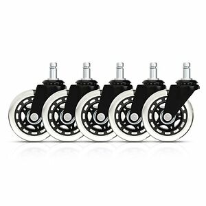 Rollerblade Style Office Chair Caster Replacement Wheels set Of 5