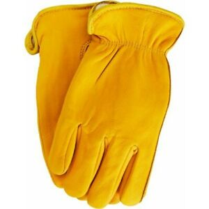 Mens Grain Deerskin Leather Work Gloves no 963l Wells Lamont Corp 3pk