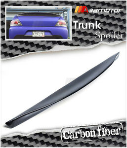 Duct Bill Ductbill Style Carbon Fiber Trunk Spoiler For Mitsubishi Evo 7 8 9