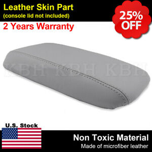 Fits 12 14 Honda Civic Leather Center Console Lid Armrest Cover Gray