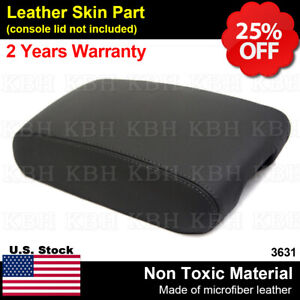 Leather Armrest Center Console Lid Cover Fit Jeep Grand Cherokee 2011 2019 Black