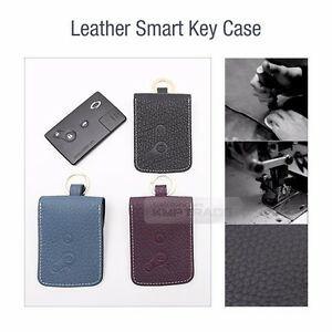 Folding Key Genuine Leather Case Cover Holder Pouch Bf 9 For Renault 3button