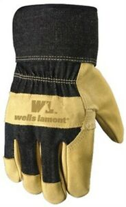 Xl Mens Grain Pigskin Leather Work Gloves By Wells Lamont Corp 3pk