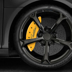 Yellow Mgp Caliper Covers W Cursive 2008 2017 Cadillac Cts W Je5