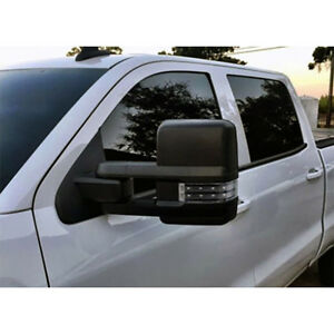 03 06 Silverado Sierrapower Heated Towing Mirrors Smoke Led Signals Pair Black