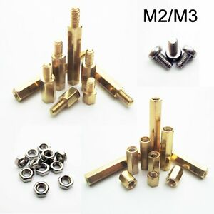 5 50pcs Brass Copper M2 M3 Hex Column Standoff Support Spacer Pillar Pcb Board