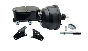 Pro touring Style Chevelle Power Booster Black Oval Tandem Master Cylinder
