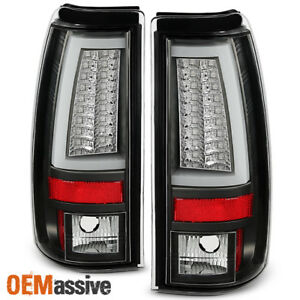 Fits 2003 2006 Chevy Silverado Gmc Sierra 1500 2500hd 3500 Black Led Tail Lights