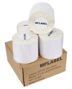 450 roll 4x6 Direct Thermal Shipping Label Zebra Zp450 Eltron 2844 Free Shipping