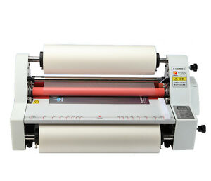 V350 13 Hot Cold Roll Laminator Single dual Sided Laminating Machine 220v Y