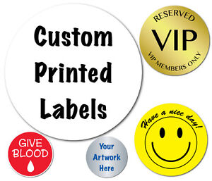 2 Inch Circle Custom Printed Labels Peel Stick Roll Of 1 000 Stickers